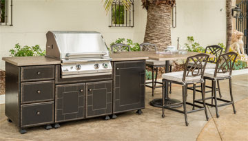 Grill & Seating Island