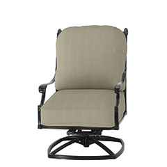 Michigan Cushion High Back Swivel Rocking Lounge Chair