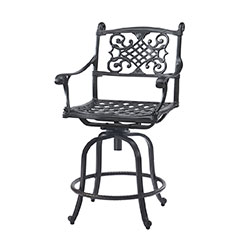 Michigan Cushion Swivel Balcony Stool