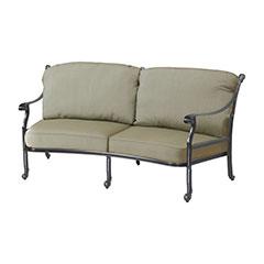 San Marino Cushion Curved Loveseat