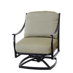 Wave Cushion Swivel Rocking Lounge Chair