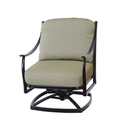 Edge Cushion Swivel Rocking Lounge Chair