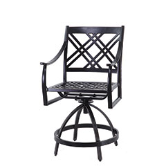 Edge Cushion Swivel Balcony Stool