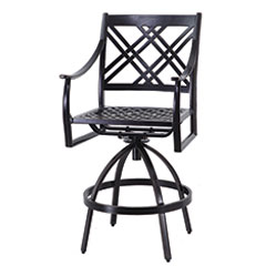 Edge Cushion Swivel Bar Stool