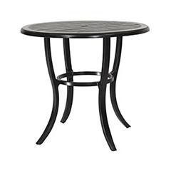 "Lattice 44"" Round Bar Table"
