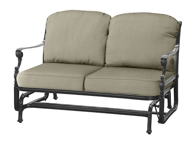 outdoor own decoration design your easylovely in glider cushions with designing stunning patio loveseat home ideas
