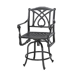 Grand Terrace Cushion Swivel Balcony Stool