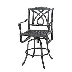 Grand Terrace Cushion Swivel Bar Stool
