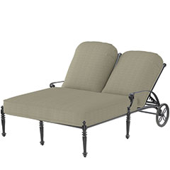 Grand Terrace Cushion Double Chaise Lounge