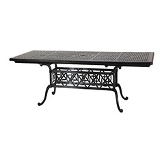 "Grand Terrace 44"" x 74""/114"" Rectangular Extension Dining Table"