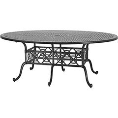 "Grand Terrace 72"" x 102"" Geo Dining Table"