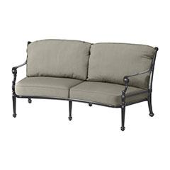 Grand Terrace Cushion Curved Loveseat