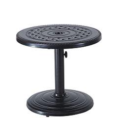 "Grand Terrace 24"" Round Umbrella End Table - 50lb Base"