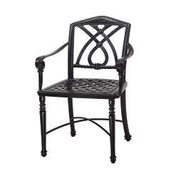 Terrace Cushion Cafe Chair with Arms - KD