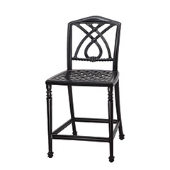 Terrace Cushion Stationary Bar Stool w/o Arms