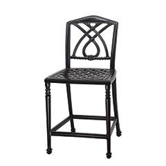 Terrace Cushion Stationary Bar Stool w/o Arms - Welded