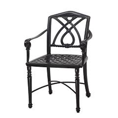 Terrace Cushion Café Chair with Arms - Welded