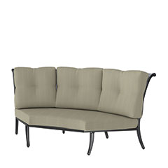 Dynasty Cushion Three-Back Corner Chair