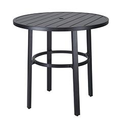 "Plank 44"" Round Bar Table"