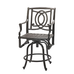 Bel Air Cushion Swivel Balcony Stool