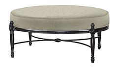 Bel Air Cushion Oval Ottoman