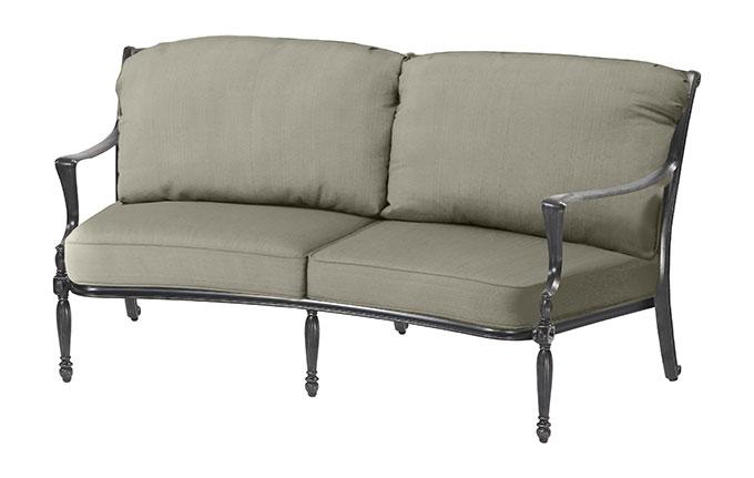 Bel Air Cushion Curved Loveseat