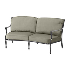 Bel Air Cushion Curved Loveseat