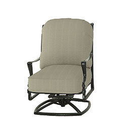 Bel Air Cushion High Back Swivel Rocking Lounge Chair