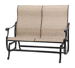 Michigan Sling High Back Loveseat Glider