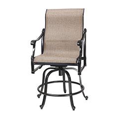 Michigan Sling Swivel Rocking Balcony Stool
