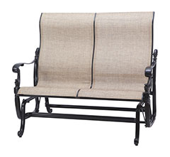 Florence Sling High Back Loveseat Glider