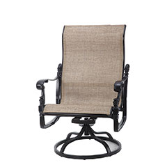 Florence Sling High Back Swivel Rocking Lounge Chair