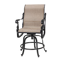 Florence Sling Swivel Rocking Balcony Stool