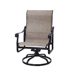 San Marino Sling High Back Swivel Rocking Lounge Chair