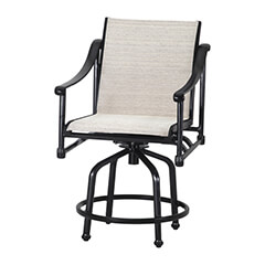 Morro Bay Sling Swivel Balcony Stool