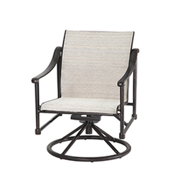 Morro Bay Sling Swivel Rocking Lounge Chair