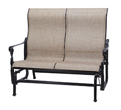 Grand Terrace Sling High Back Loveseat Glider