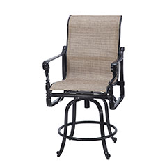 Grand Terrace Sling Swivel Balcony Stool