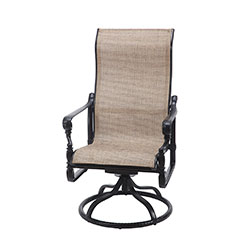 Grand Terrace Sling High Back Swivel Rocker