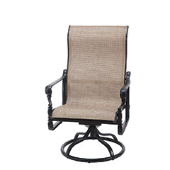 Grand Terrace Sling High Back Swivel Rocking Lounge Chair