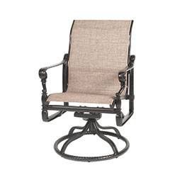 Grand Terrace Sling Standard Back Swivel Rocker