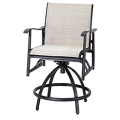 Lida Sling Swivel Balcony Stool