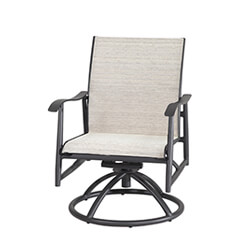 Lida Sling Swivel Rocking Lounge Chair