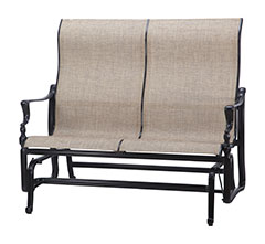 Bel Air Sling High Back Loveseat Glider