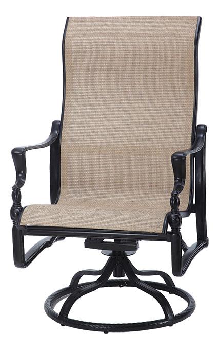 Bel Air Sling High Back Swivel Rocking Lounge Chair