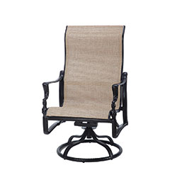 Bel Air Sling High Back Swivel Rocking Lounge Chair