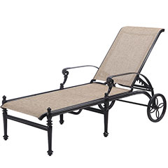 Grand Terrace Sling Chaise Lounge