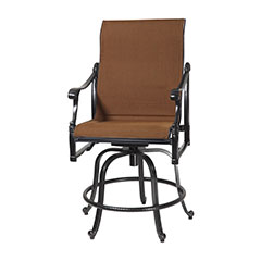 Michigan Padded Sling Swivel Rocking Balcony Stool