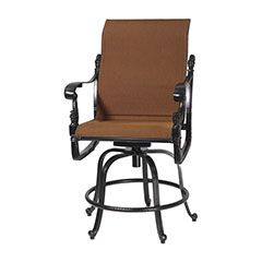 Florence Padded Sling Swivel Rocking Balcony Stool