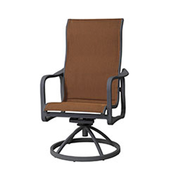 Cabrisa Padded Sling High Back Swivel Rocker
